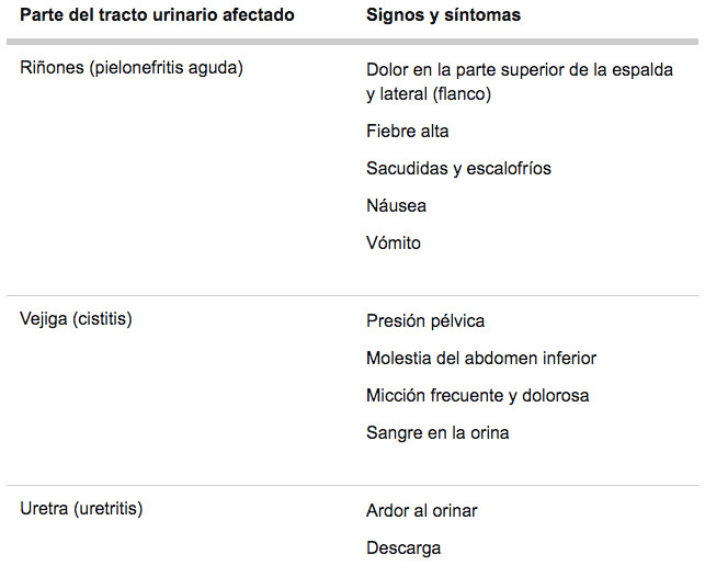 tipos de infeccion de vias urinarias