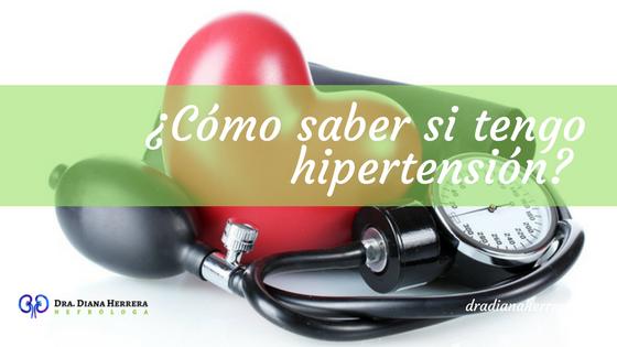 Cómo saber si tengo hipertensión